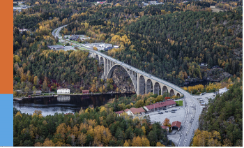 The Swedish-Norwegian border: bridge over Svinesund